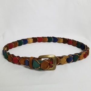 """Rainbow leather link belt size M up to 34"""""""